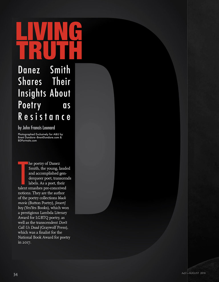 Danez Smith - A&U Magazine - by Brent Dundore